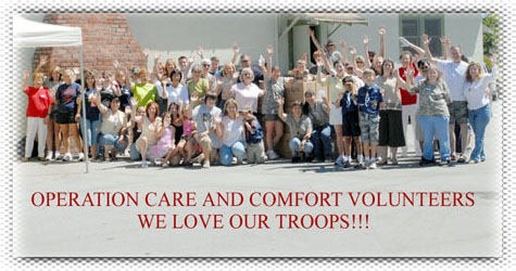Operation: Care and Comfort - We Love Our Troops!